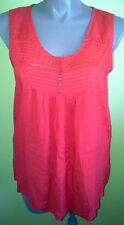 Ladies Womens Red Blouse Shirt Top Casual Loose Fit Sleeveless Millers Size16