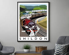 Shildon Vintage Travel Poster, Modern Wall Art Print