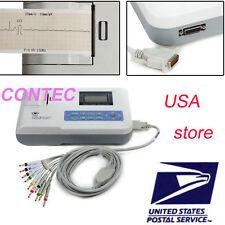 FDA Digital Single Channel 12 lead Portable ECG/EKG Machine ECG100G with printer