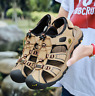 Hiking Walking Men's Cow Leather Sandals Outdoor Sports Closed Toe Beach Shoes