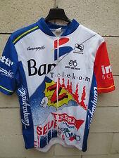 VINTAGE Maillot cycliste TUTTI CAMPAGNOLO maglia jersey BANESTO Z PDM TELEKOM 6