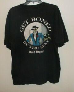 Vintage Dead Stroke Billiards Get Boned By The Best Pocket T-Shirt Size X Large