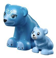 Lego Elves ~ BLUBEARY & Lil' Blu ~ Blue Bear Minifigure Animals (41183)