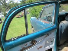 49 FORD CAR 4 DOOR LEFT DRIVER LH REAR BACK DOOR WINDOW GLASS HAS ROCK CHIP 1949