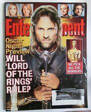 Ew Lord Of The Rings Oscar Night Preview Lotr #753 Feb 27, 2004 Aragorn Viggo