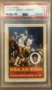 1973 Topps Kareem Abdul-Jabbar #50 PSA 5 All Star HOF Milwaukee Bucks