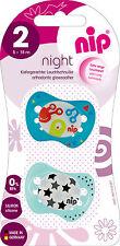 New Nip Orthodontic Glow in Dark Nighttime soother 16-32m Baby dummies pacifier