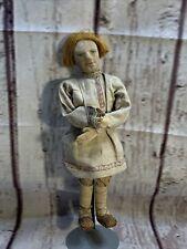 "Antique 1917 stockinette cloth 15"" Russian Village Boy Doll The Willage Boy Doll"