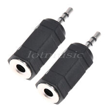 2*Headphone Adapter PDA 2.5mm Male To 3.5mm Female Jack Audio Cable Connector