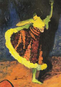 Postkarte: Erma Bossi - Tänzerin in Rot