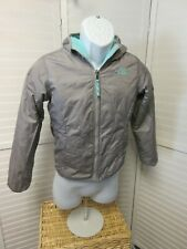 NORTH FACE Girl's  Fleece-lined Hooded Gray Reversible gray  Jacket 10-12 (M)