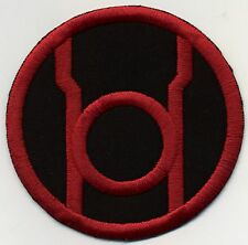 "2.5"" Red Lantern Corps Classic Style Embroidered Patch on Black Fabric"