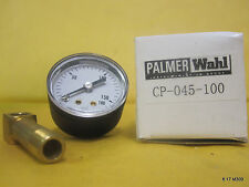 Palmer Wahl 0-160 PSI Gauge w. Brass Stem CP-045-100