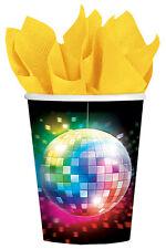 Disco Fever Pappbecher 8er-Set NEU - Partyartikel Dekoration Karneval Fasching