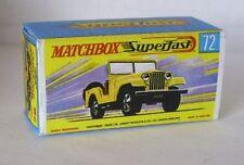 Repro Box Matchbox Superfast Nr.72 Standard Jeep