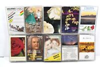 Lot of 10 Classical Music Cassette Tapes Strauss, Beethoven, Bach, Schumann, etc