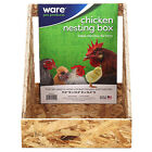 Ware 01492 Chick-N-Nesting Box, Plywood, 11 x 12-3/4 x 12-1/2-In. - Quantity 1