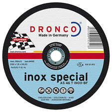 Dronco Trennscheibe AS 46 T INOX special 230x1,9x22,23mm 10 Stück in Metalldose
