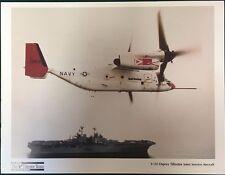 "BELL-BOEING V-22 Osprey Tiltrotor Aircraft 8-1/2"" x 11"" promotional print"