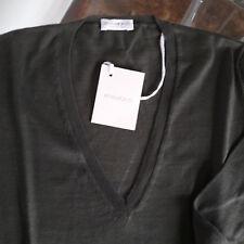 Maglia V cotone 100% colore verdone, RIVAMONTI (BRUNELLO CUCINELLI) tg S, NUOVA