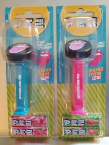 2 (TWO) NEW ROLLING STONES PEZ CANDY CONTAINERS ~NEVER OPENED~ FREE SHIPPING