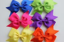 6 pc hair bows 4 inch baby girl toddler cheap hairbow lot hair clip US seller