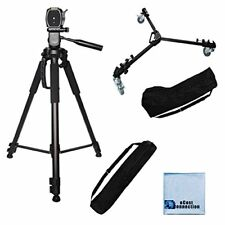 "72"" Camcorder Tripod + Dolly for Nikon D5100 D5500 D5000 D5300 D610"