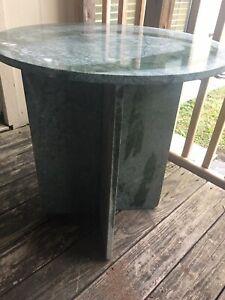 granite stone side table