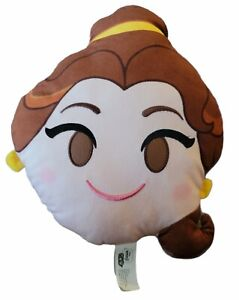 """Disney Emoji beauty and the beast Princess Belle 13"""" Soft Plush Pillow Pre-owned"""