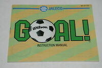 Goal Nintendo NES Video Game Manual Only