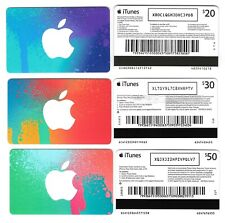 FOR COLLECTION ONLY - 3 x USED Australia APPLE iTunes gift cards setA, NO CREDIT