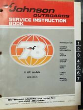 1978 JOHNSON EVINRUDE OUTBOARD 6 HP SERVICE REPAIR MANUAL INSTRUCTION BOOK