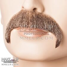 Horseshoe grey Brown Mustache Hair Makeup stage Theatrical costume Facial santa