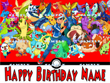 POKEMON: Personalized edible cake toppers FREE SHIPPING in Canada