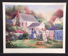 "Paula Vaughan Limited Edition Signed Print ""Morning Visit"" w/COA Quilts"