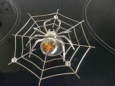 Cristal Swarovski éléments empierré Spider in Web Suncatcher Ornement