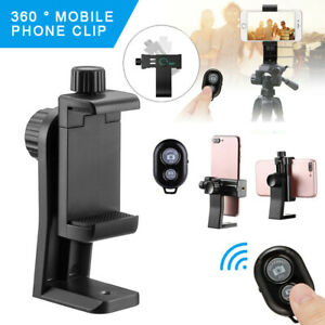 Smartphone Holder Tripod Adapter Cell Phone Bracket Mount Clip with Remote S2