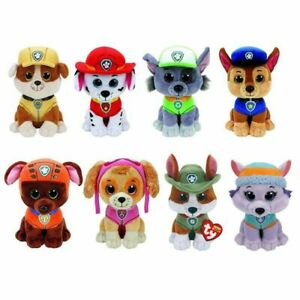 Ty Beanie Boos Paw Patrol  Skye Marshall Rocky Rubble Chase Zuma Plush Soft Toys