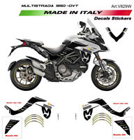 Kit adesivi Mission Winnow White - Ducati Multistrada 950 dal 2019 defl. alti