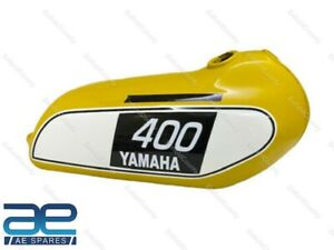 Fuel Gas Tank Yellow Steel For YAMAHA 250 DT 400 DT Enduro 1975 to 1977 ECs