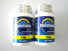 6 MG (Up Date 3 ) Mélatonine 240 = 2X120Tabs / Bot / Bnsb / Couchage Aide /