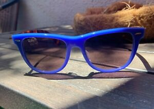 Ray-Ban RB 2140-F Wayfarer Blue & Tortoise Polarized Unisex Sunglasses