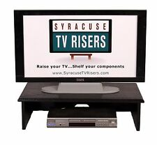 """XX - LARGE BLACK TV RISER - Solid-36""""widex18""""deepx9""""high by Syracuse TV Risers"""