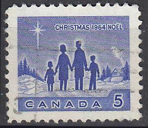 Kanada gestempelt Weihnachten Stern von Betlehem Familie Jahrgang 1965 / 25