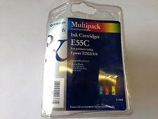 EPSON T0552/3/4 PRINTER CARTRIDGES CYAN MAGENTA YELLOW STYLUS PHOTO E55C