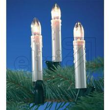 Lichterkette mit Topkerzen perlmut für innen 10- 15- 30-flammig
