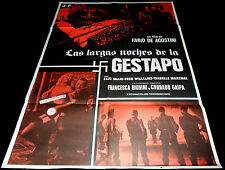 1977 The Red Nights of the Gestapo ORIGINAL SPAIN POSTER Nazisploitation SLEAZY
