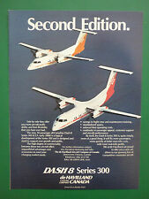 8/1986 PUB DE HAVILLAND CANADA BOEING DASH 8 SERIES 100 300 AIRCRAFT ORIGINAL AD