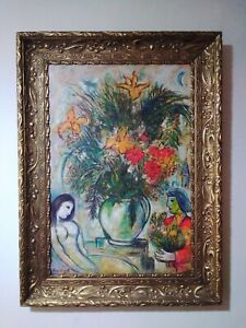 Beautiful old painting oil on Canvas signed  Marc Chagall