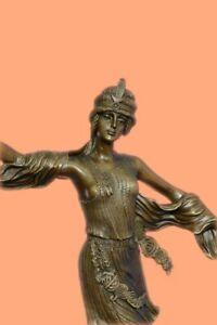 100% Real Bronze Sexy Shawl Dancer Bronze Masterpiece Figurine Figure Decor GIFT